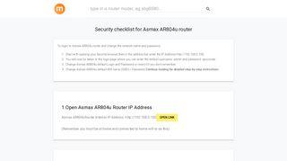 192.168.0.100 - Asmax AR804u Router login and password - modemly