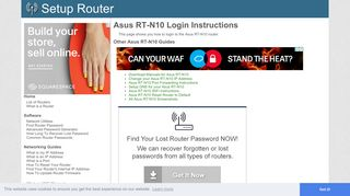 How to Login to the Asus RT-N10 - SetupRouter