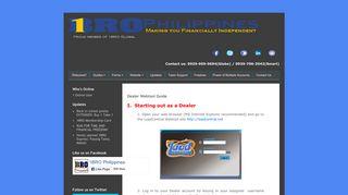 1BRO Global Dealership: Dealer Webtool Guide