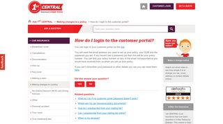 How do I login to the customer portal? | Ask a question | 1st CENTRAL ...