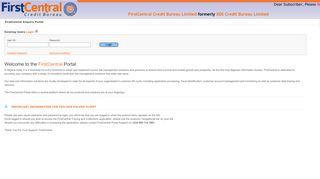Login - First Central Credit Bureau