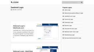 2webmail Login | Accedi 2webmail - loginii
