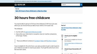 30 hours free childcare - GOV.UK