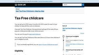 Tax-Free childcare - GOV.UK