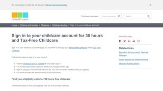 Access your childcare account - Dorset County Council