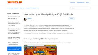 How to find your Miniclip Unique ID (8 Ball Pool) – Miniclip Player ...