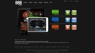 Mobile Casino | The Web's Best casino games at 888.com