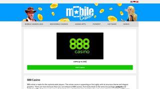 888 Casino - $1500 bonus + $88 no-deposit bonus | mobilecasino.com