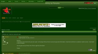 Access paystatements - Army.ca
