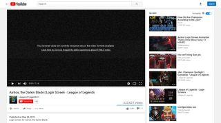 Aatrox, the Darkin Blade | Login Screen - League of Legends - YouTube