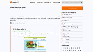 Abacus Evolve Login