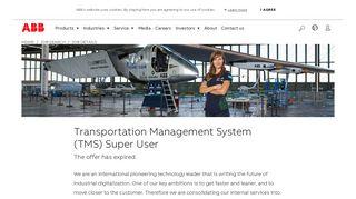 Transportation Management System (TMS) Super User - ABB Group
