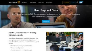 User Support Desk - 24/7 Direct Access to SAP Concur Experts - SAP ...