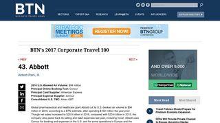 43. Abbott: Business Travel News
