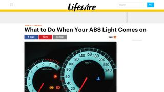 What to Do When Your ABS Light Comes on - Lifewire
