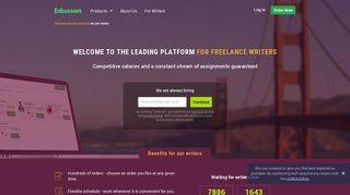 We are hiring freelance academic writers on Edusson - Edusson.com