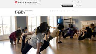 Health: Student Resources | Academy of Art University
