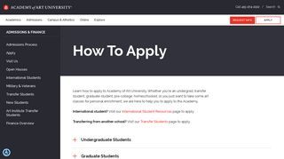 Admissions: How to Apply | Academy of Art University