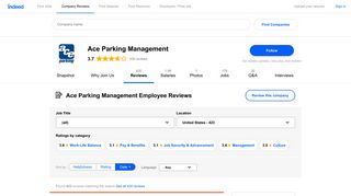Working at Ace Parking Management: 420 Reviews | Indeed.com