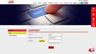 Support Login | ACTCORP - ACT Fibernet
