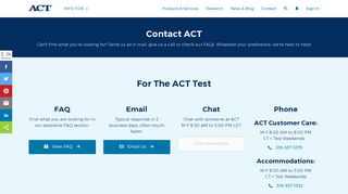 Contact ACT
