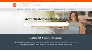 Act! Premium Customer Support & Resources
