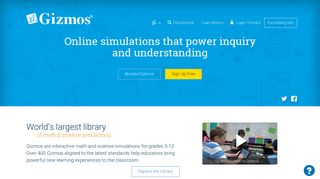 ExploreLearning Gizmos: Math & Science Simulations Powering ...