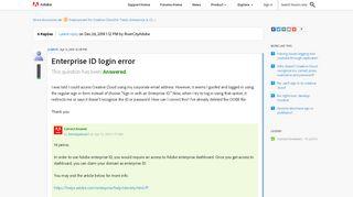 Enterprise ID login error | Adobe Community - Adobe Forums