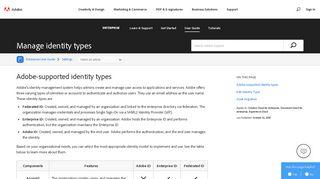 Manage identity types in Adobe enterprise offerings - Adobe Help Center
