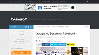 Google AdSense for Facebook @DreamGrow 2018