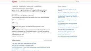 Can I use AdSense ads on my Facebook page? - Quora