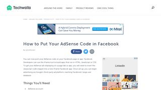 How to Put Your AdSense Code in Facebook | Techwalla.com