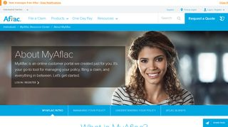 About MyAflac - Individuals   Aflac