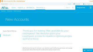 Create a New Account   Aflac