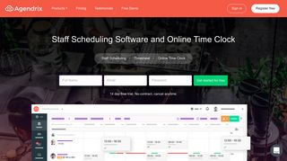 Agendrix: Staff Scheduling Software and Online Time Clock