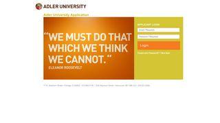 Login - Adler University Application