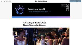 Alfred Angelo Bridal Chain Closes. Scrambling Ensues. - The New ...
