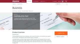 Paperless Pay   Business   Equifax