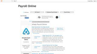 Payroll Online: Allegis Payroll Online