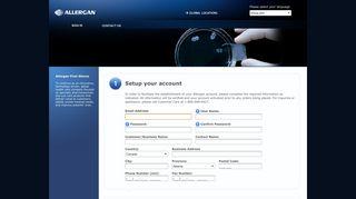Create Account - Allergan Canada