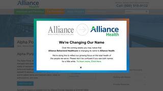 Alpha Portal - Alliance Behavioral Healthcare