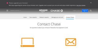 Contact Chase   Amazon Rewards Card - Chase.com