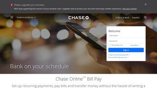 Chase Online Bill Pay - Personal Banking - Chase.com