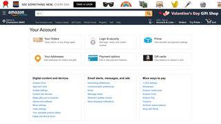 Your Account - Amazon.com