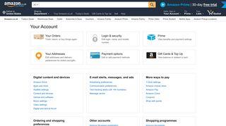 Your Account - Amazon UK