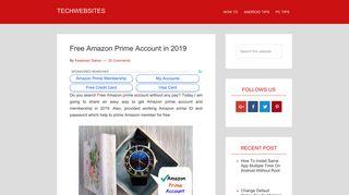 Free Amazon Prime Account in 2018(100% work) - Techwebsites
