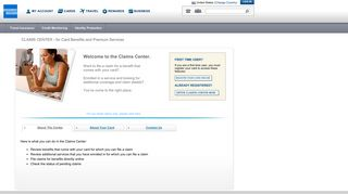 American Express | Online Claims