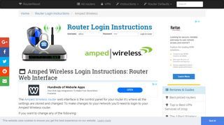 Amped Wireless Login: How to Access the Router Settings | RouterReset