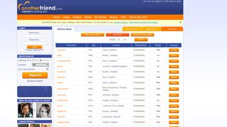 Online Now - Listing - Page 1 - Ireland Dating - Anotherfriend.com