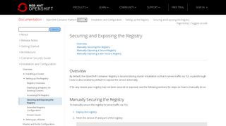 Securing and Exposing the Registry - Setting up the Registry ...